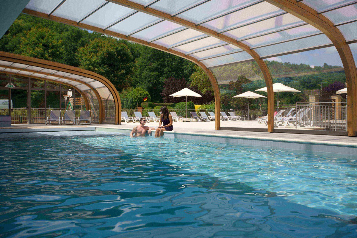 At Camping Le Pardis 2 Two Outdoor Swimming Pools A Covered Swimming Pool With Spa And A Splashpad