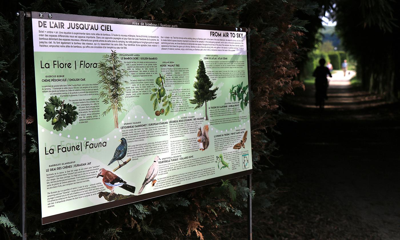 Panneaux interprétation biodiversité