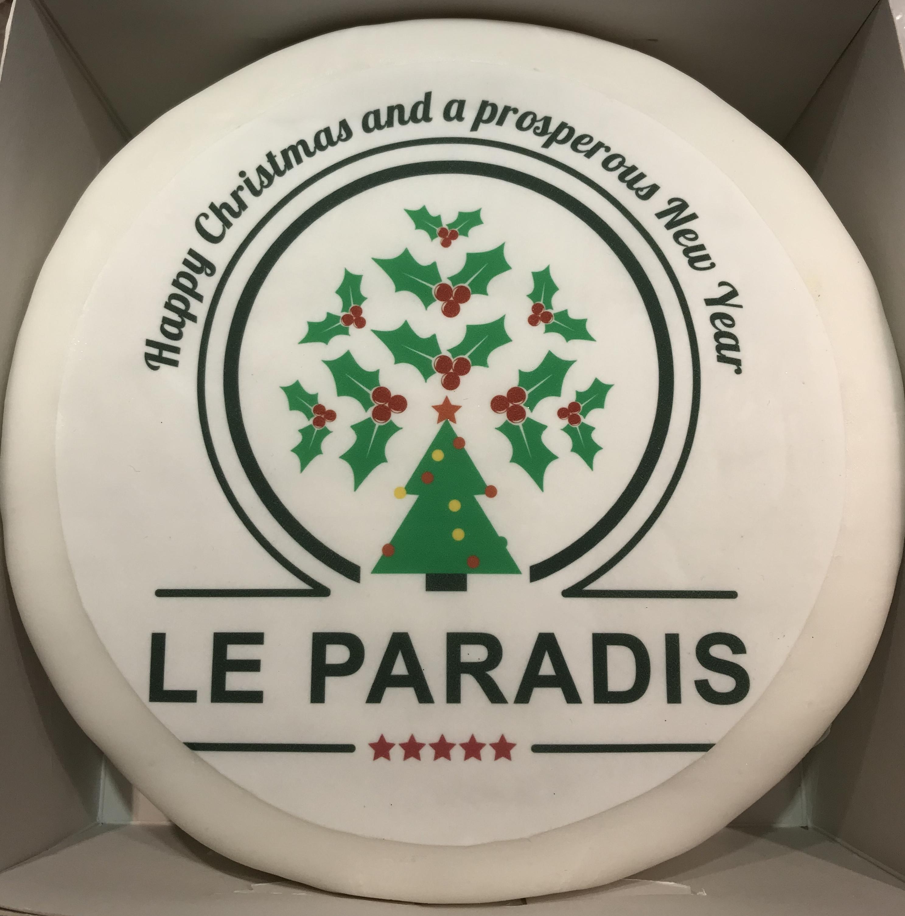 Camping Le Paradis Christmas cake