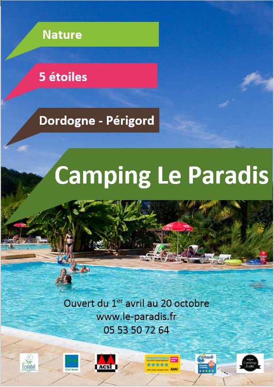 Brochure Camping Le Paradis